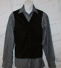 Brown Suede & Knitting SISLEY RELAXED ELEGANCE Button Cowboy Waistcoat Size M