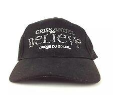 Criss Angel Believe Cirque Du Soleil Las Vegas Black Baseball Cap Hat Cotton