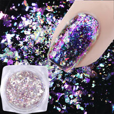 Hot 0.1g Chameleon Holographic Nail Sequins Mirror Powder Glitter Flake Women