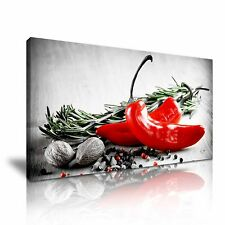 Herbs And Spices Kitchen Canvas Wall Art Picture Print 60x30cm