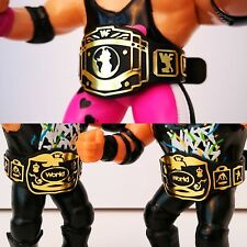 Custom WWF Hasbro style Wrestling Figure Title Belts - Set of 3 - WWE WCW
