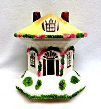 """Coalport China England """"Thatched Cottage"""" House Pastille Incense Burner"""