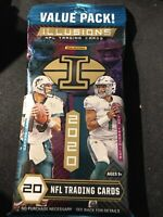 2020 Panini Illusions Football 20 Card Value Pack 6 Lot Sealed Burrow Tua RC?🔥