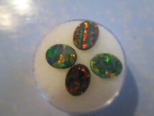 Opal (Gilson) doublets 4 stone parcel 9x7mm .66 TCW matched ovals color play