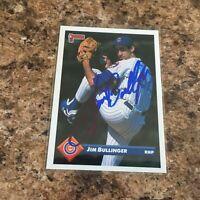 Jim Bullinger Signed 1993 Donruss Auto Chicago Cubs