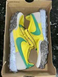 🔥Nike WAFFLE RACER CRATER Brazil Volt Yellow/Photon Dust WMN Size 11/Mens 9.5