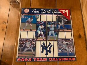 RARE VINTAGE 2003 NEW YORK YANKEES CALENDAR SEALED MINT