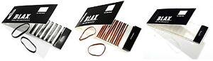 BLAX - Snag Free Hair Elastics 2mm(12 cnts)  /  4mm (8cnts)   --  FREE SHIPPING