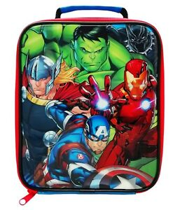 Avengers Reusable Insulated Lunch Bag for School, Nursery & Outdoors