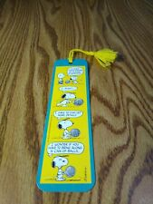 Vtg Hallmark Snoopy Charlie Brown Bookmark 1950,1958 United Feature Syndicate