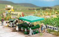 BUSCH 1074 - Mercato di asparagi con accessori. Scala H0