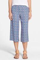 ! Ella Moss 'Yazmine' Wide Leg Crop Pant NWT L Royal Blue