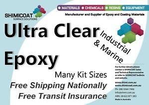Ultra Clear Epoxy Resin ART/Floor High Gloss Coating-Casting 2Pk Resin/Hardener