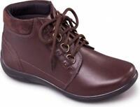 Padders JOURNEY Ladies Waterproof Leather EEE/EEEE Wide Fit Ankle Boots Brown