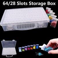 64 Grid Plastic Transparent Plastic Box Jewelry Storage Bead Organizer Container