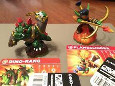 Skylanders Giants Figures - FLAMESLINGER,DINO-RANG with Cards  & Codes
