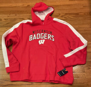 Men's Wisconsin Badgers Fanatics Branded Gametime Arch Pullover Hoodie NWT 2XL
