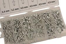 Surtido de 400 Remaches Ciegos en Aluminio 2.4 - 3.2 - 4.0 - 4.8 mm - Bgs 8058