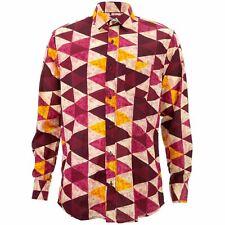 Corte Normal Camisa de Manga Larga Loud Originals Rojo Tropical Triángulos