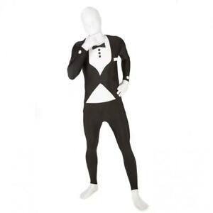 Official Morphsuit Tuxedo Black & White Morph Fancy Dress Costume