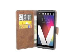 LG V20 (H990) //Buchtasche Book-Case Tasche Hülle Schale Case Zubehör in Braun