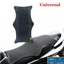 1x Black 3D Mesh Seat Cover Anti-slip Sunscreen Cushion For Scooter Motorcycle