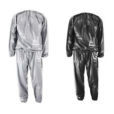 Heavy Duty Fitness Weight Loss Sweat Sauna Suit Exercise Gym Anti-Rip O3L6