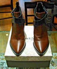 GIAMPAOLO VIOZZI Brown & Black Leather Boots Size 39 w/Box