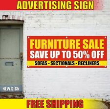 Furniture Sale Banner Advertising Vinyl Sign Flag Sofas Sectionals Recliners 50%