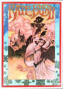 Kate Bush Fan-Styled Original Poster Wuthering Signed Silkscreen by Bob Masse