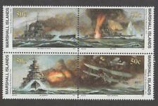 MARSHALL ISLANDS, SCOTT # 278-281, BLOCK OF SINKING OF THE BISMARCK 1941, MNH