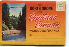 POSTCARD BOOKLET FOLD OUT NORTH SHORE & CAPILANO CANYON VANCOUVER CANADA