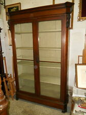 Ancient Library Library Louis Philippe Mahogany Time Half 800 in Patina