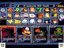Memory Card  Super Smash Bros Brothers Melee Gamecube Everything Unlocked 4 MB +