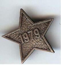 STAR Shape pin old 1979 Cap Collar Lapel BADGE