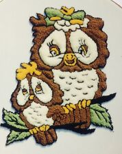 Webster Craft Punch Needle Embroidery Owl and Baby Kit with yarns