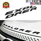 Matte Black Hood Emblem Letters Sport Logo For 2011-2020 2021 Explorer² US