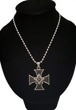 Men's Silver Stainless Steel Cross Pendant With Necklace Sp72 USA Seller