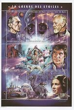 "STAR WARS LUKE SKYWALKER SCI-FI 5"" x 7"" REPUBLIQUE DU MALI 1997 MNH STAMP SHEET"