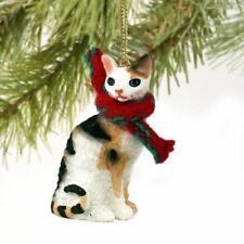 Cornish Rex Tortoise & White Cat Ornament