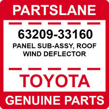 63209-33160 Toyota OEM Genuine PANEL SUB-ASSY, ROOF WIND DEFLECTOR