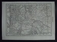 Vintage Map: Wyoming, United States, by Carl Hentschel, c 1950s, B/W