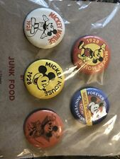New listing New Disney Mickey Mouse 90th Anniversary Commemorative Buttons Junk Food Minnie