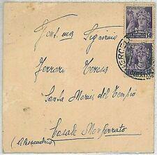 ITALIA RSI: Storia Postale -   BUSTA da VERCELLI  a CASALE MONFERRATO