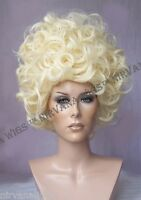 Beehive-Curls High Cone Cap Drag? Wig Blonde or Light Auburn