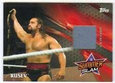 2017 Topps WWE Wrestling SummerSlam 2016 Mat Relic Bronze /199 RU Rusev