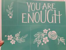 """Chalk Couture You Are Enough Transfer  Size B 8.5x11"""" Love RETIRED"""