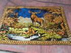 """Vintage Deer Elk Stag Cabin Decor Wall  Tapestry Rug....Large 72"""" x 48"""""""
