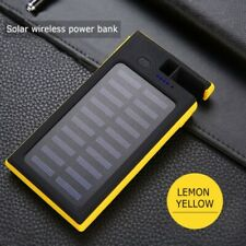 20000mAh Waterproof Solar Power Bank 2USB Battery Portable Charger For Mobile