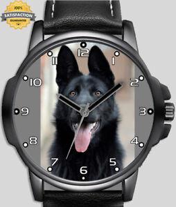 Black German Shepherd Unique Unisex Beautiful Wrist Watch Uk Fast